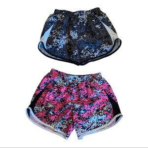 Nike Youth Pro Dryfit Girls Shorts 2 for 1 Size XL